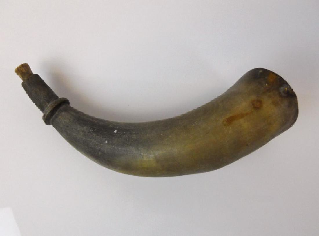 18th-19th C. Powder Horns, (2pc) - 6