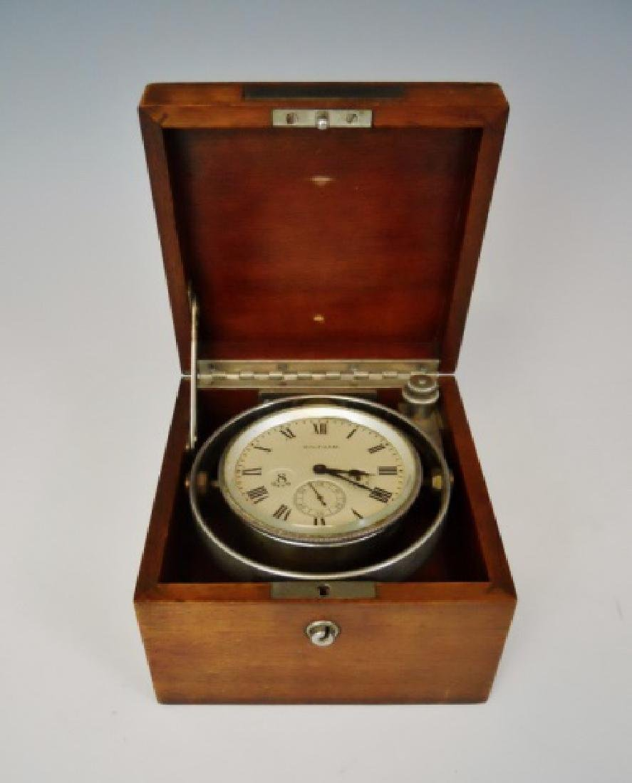 Cased 8 Day Ship's Deck Clock, Waltham