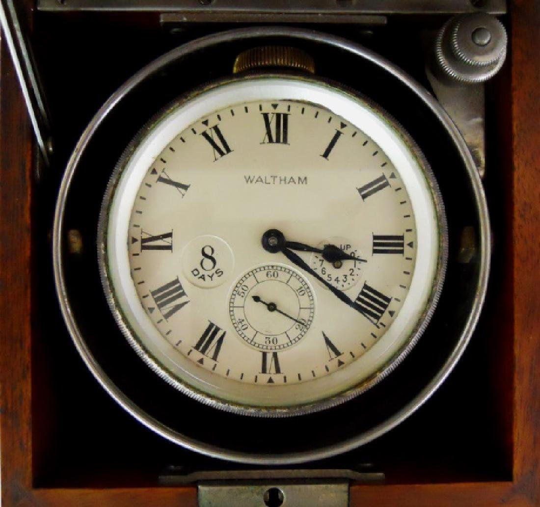 Cased 8 Day Ship's Deck Clock, Waltham - 2