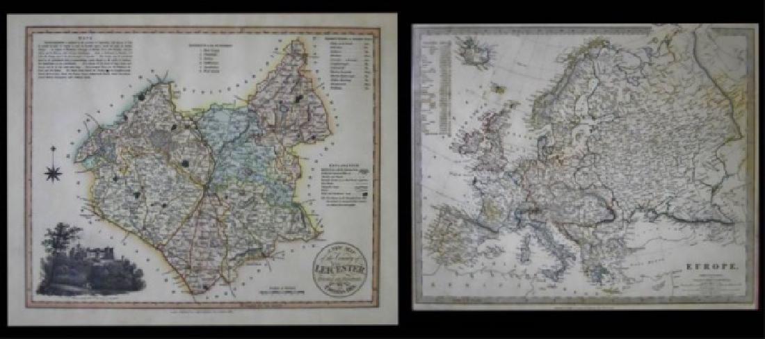 19th C. European Maps, Thomas Dix, Walker, (2pc)