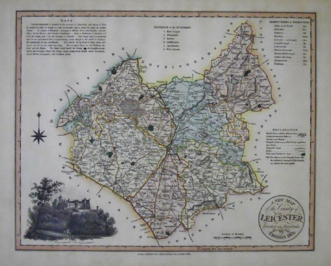 19th C. European Maps, Thomas Dix, Walker, (2pc) - 2
