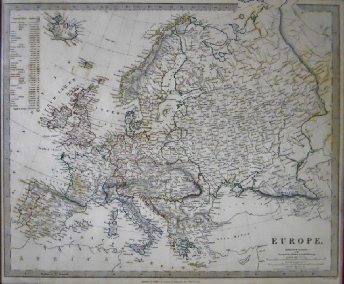 19th C. European Maps, Thomas Dix, Walker, (2pc) - 3