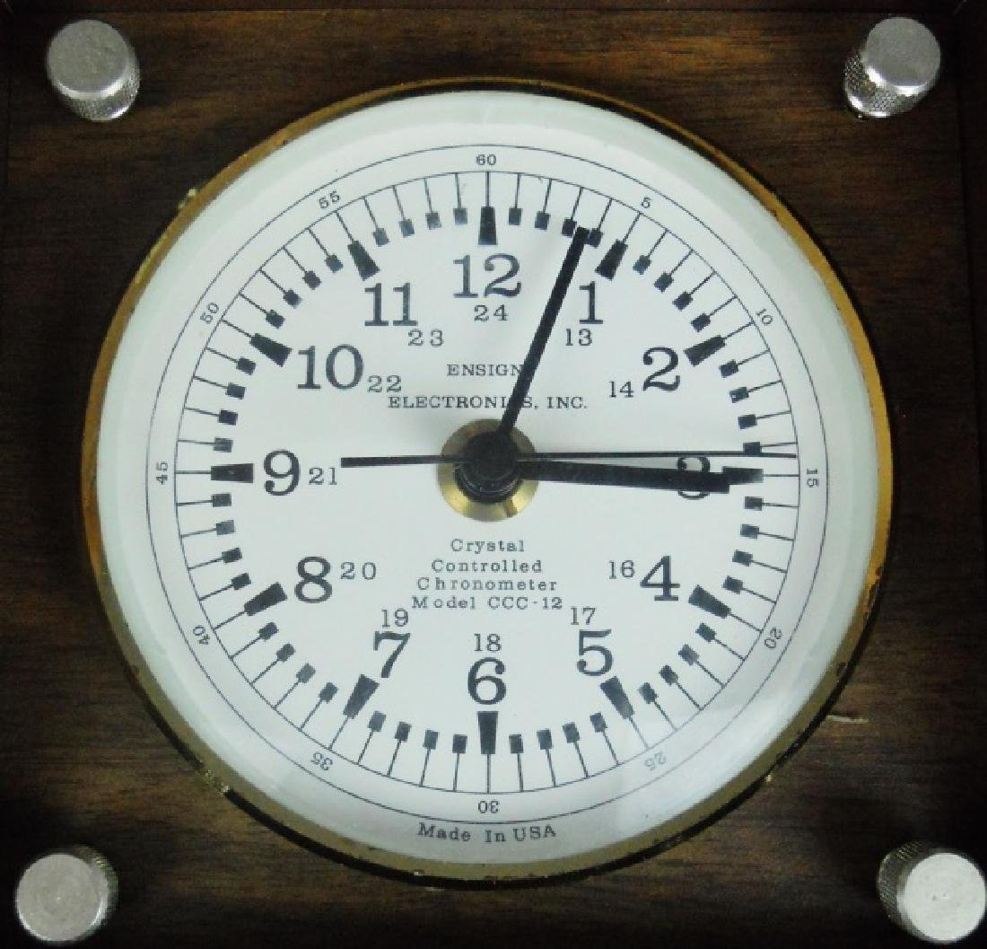 Cased Ship's Chronometer, Ensign Electronics - 2