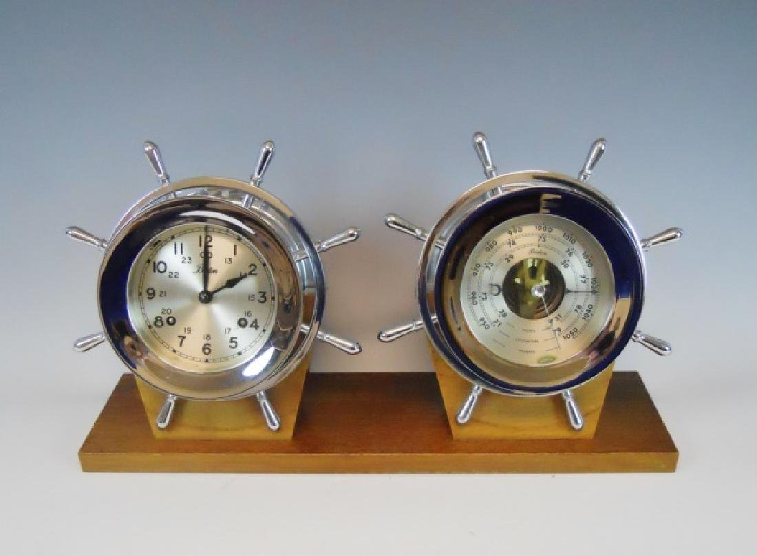 "Chelsea ""Boston"" Ship's Clock, Barometer, (2pc)"