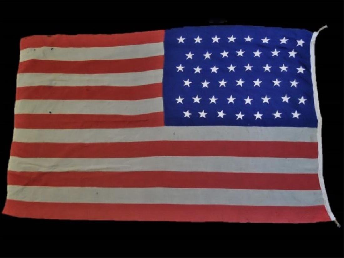 Antique United States Navy 45 Star Flag