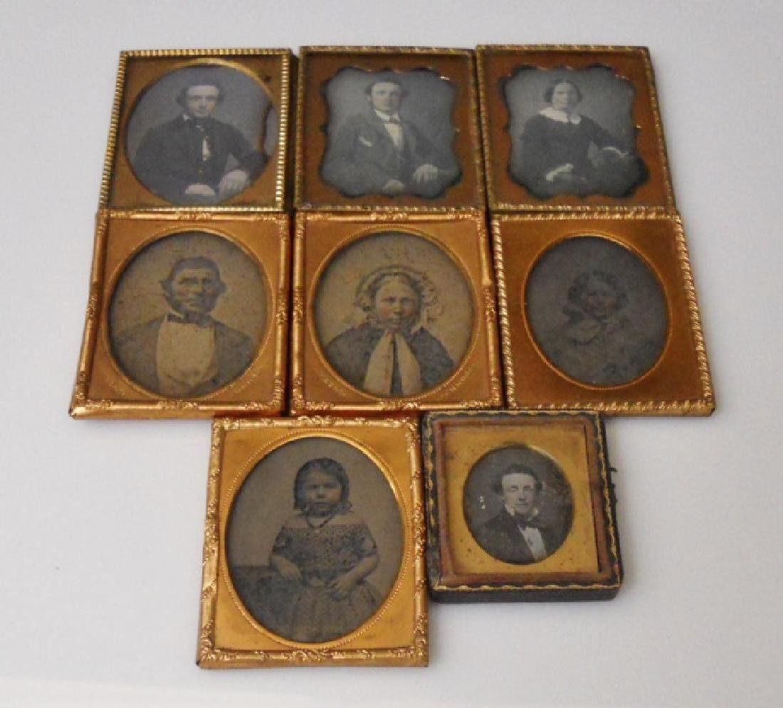 Collection of 19th C. Ambrotypes (8pc)