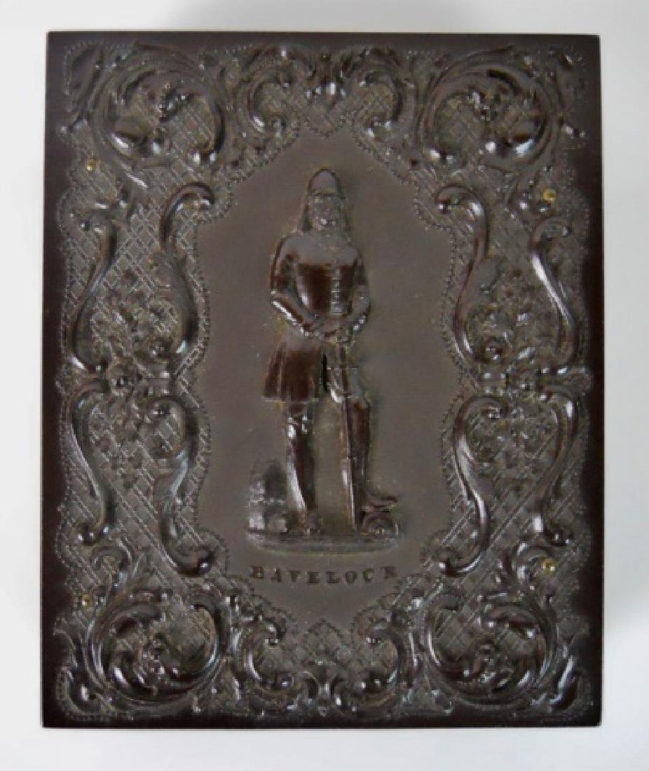 19th C. Gutta Percha Case, 1/4 Plate Daguerreotype