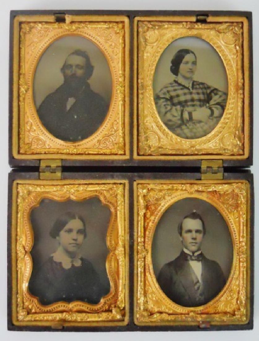 19thC. Gutta Percha Case, Double 1/9 Daguerreotype