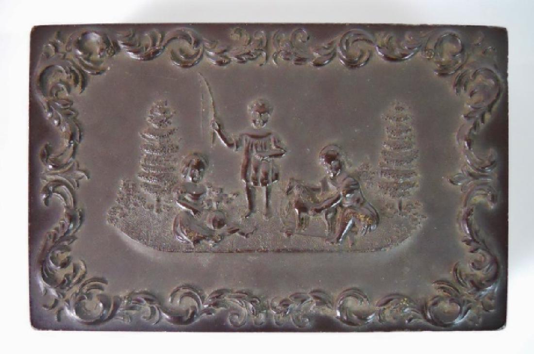 19thC. Gutta Percha Case, Double 1/9 Daguerreotype - 2
