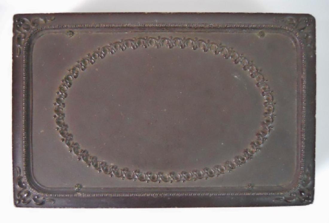 19thC. Gutta Percha Case, Double 1/9 Daguerreotype - 3
