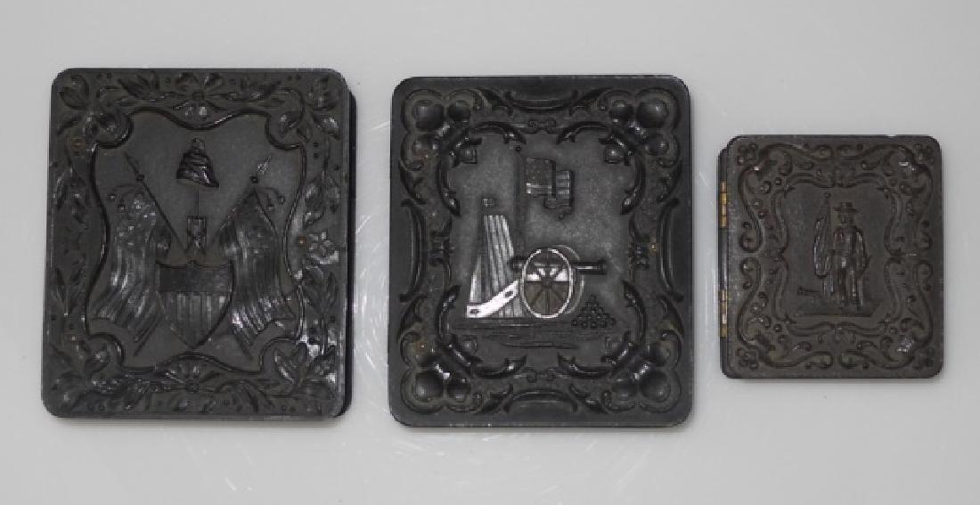 19thC. Gutta Percha Cases, Ambrotype,Tintype (3pc)
