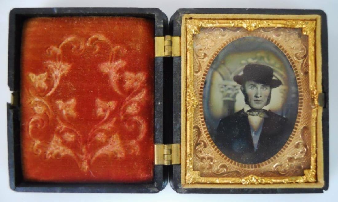 19thC. Gutta Percha Cases, Ambrotype,Tintype (3pc) - 3