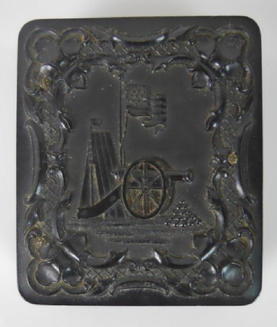 19thC. Gutta Percha Cases, Ambrotype,Tintype (3pc) - 4