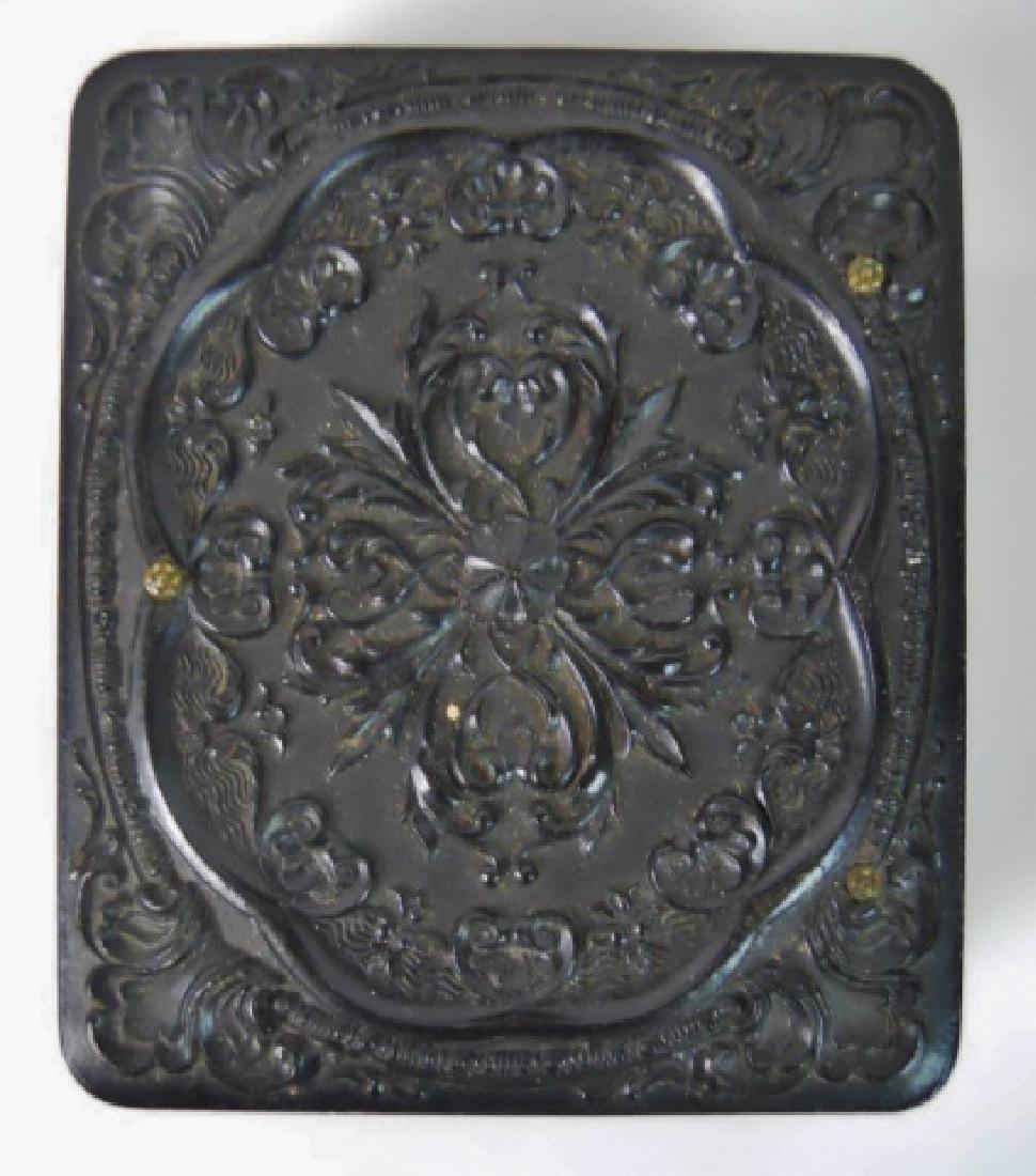 19thC. Gutta Percha Cases, Ambrotype,Tintype (3pc) - 5