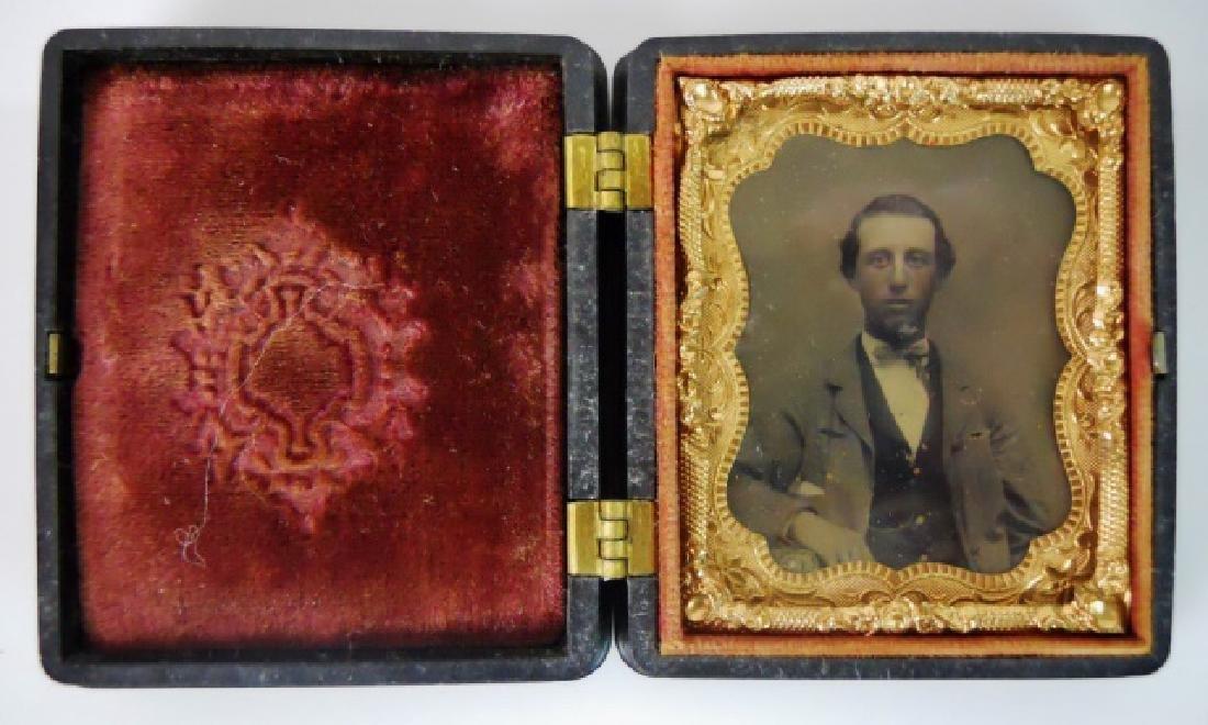 19thC. Gutta Percha Cases, Ambrotype,Tintype (3pc) - 6