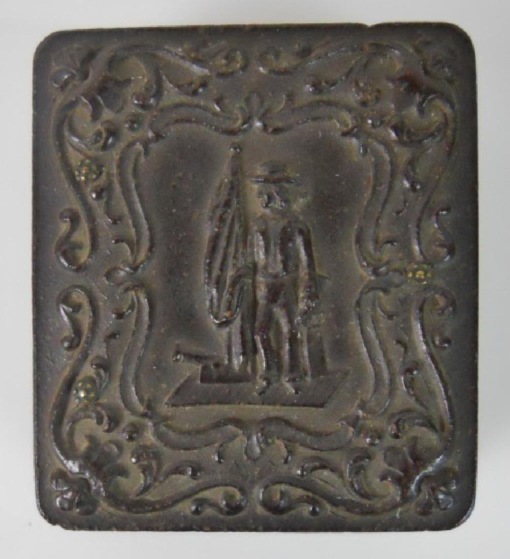 19thC. Gutta Percha Cases, Ambrotype,Tintype (3pc) - 7