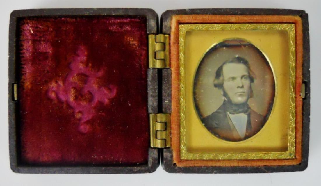 19thC. Gutta Percha Cases, Ambrotype,Tintype (3pc) - 8