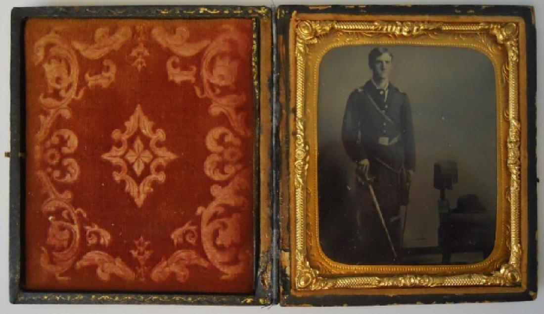 Civil War Tin Type Photograph of Union Officer