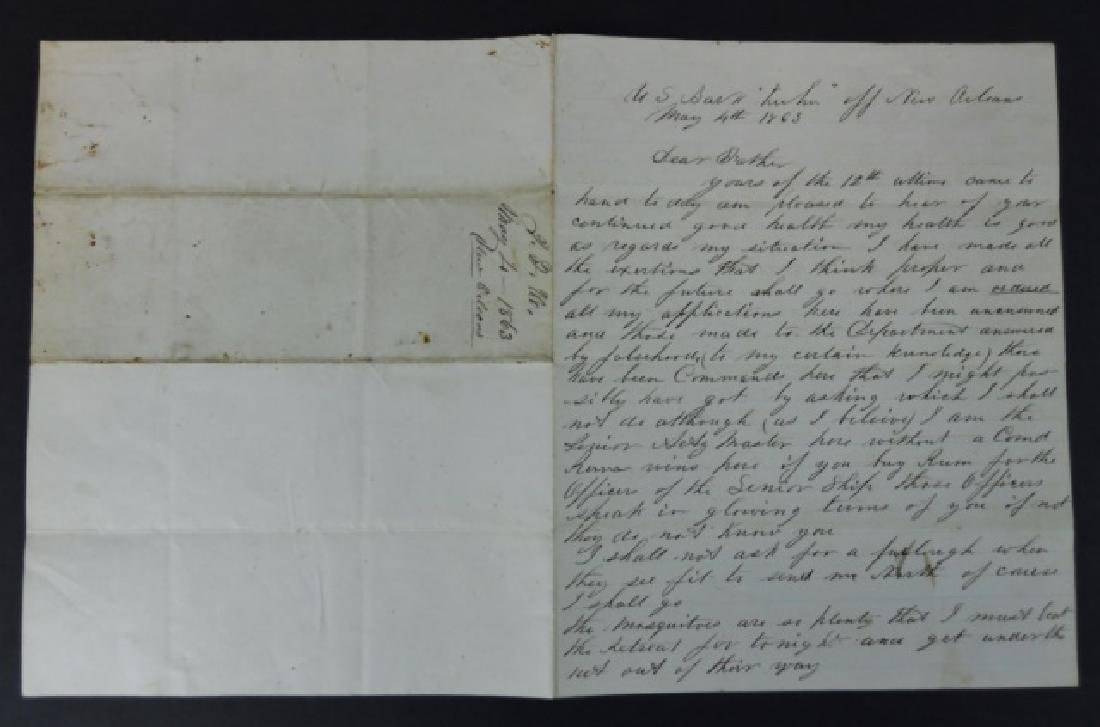 Civil War Letters, John F. Harden, USS Kuhn (2pc)