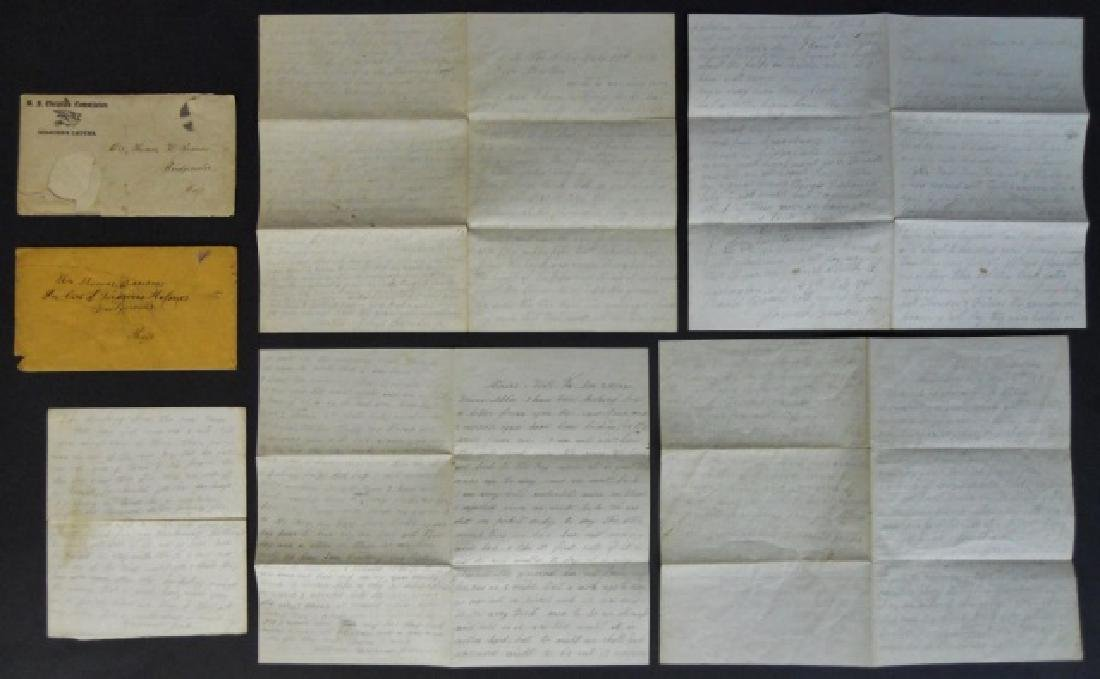 Civil War Correspondence, 1864 City Point, (7pc)