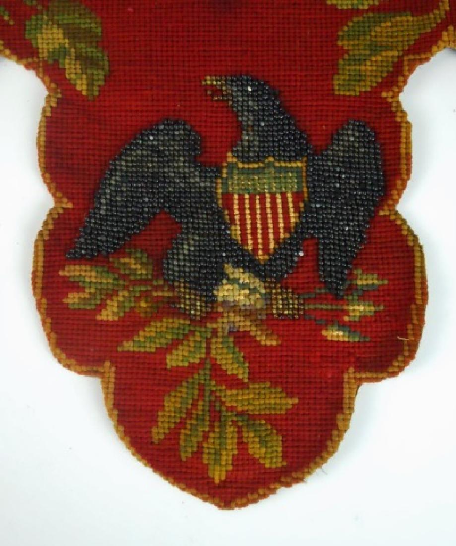 19th C. Civil War Era Needlepoint - 2