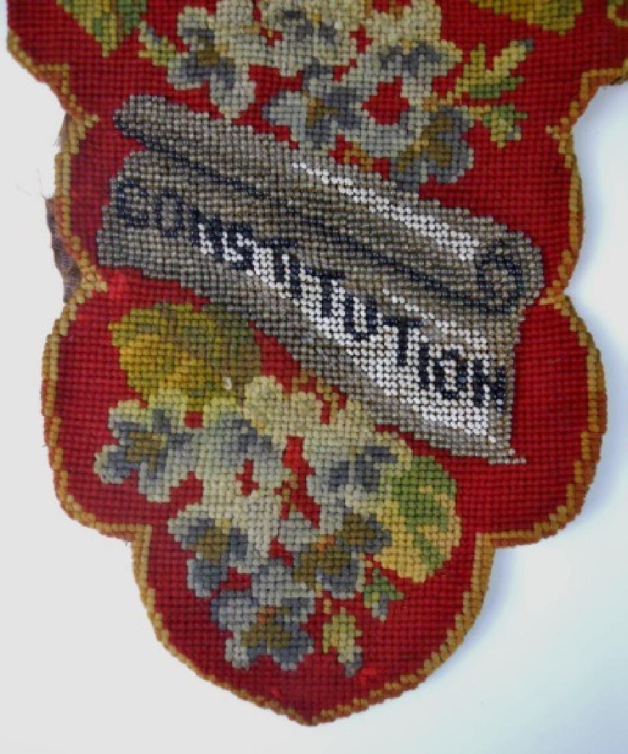 19th C. Civil War Era Needlepoint - 4