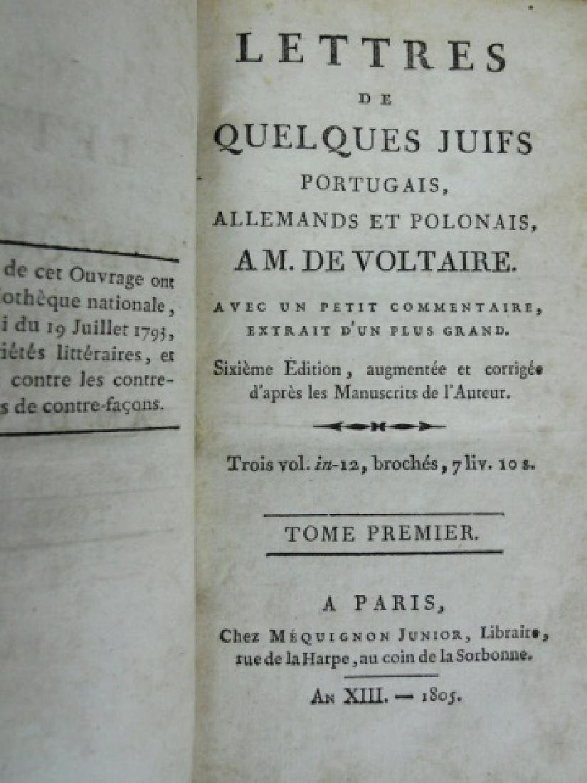 "Antiquarian Book ""Lettres"", Voltaire, 1805, Paris - 2"