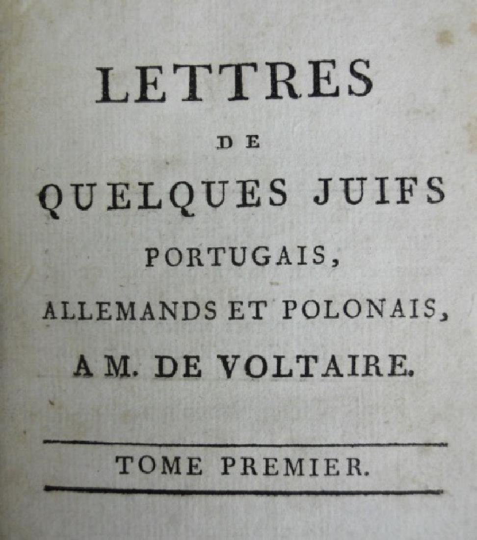 "Antiquarian Book ""Lettres"", Voltaire, 1805, Paris - 3"