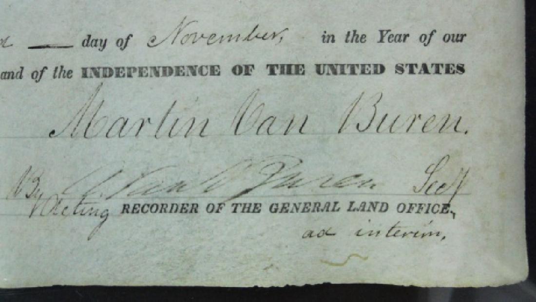 U.S. Land Grant, Michigan, Martin Van Buren 1837 - 2