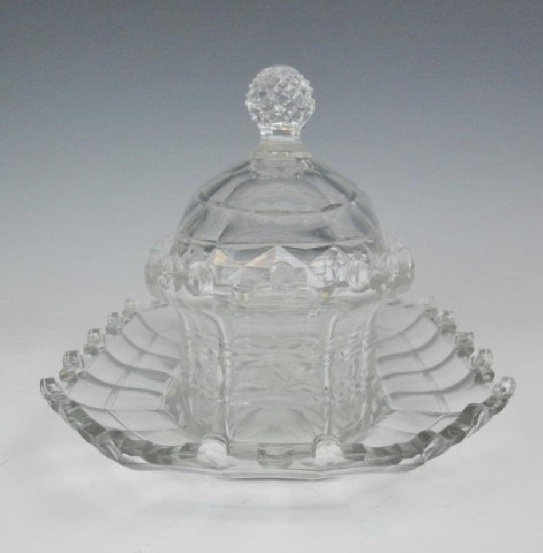 19th C. English Cut Glass Covered Dishes (2pc) - 2
