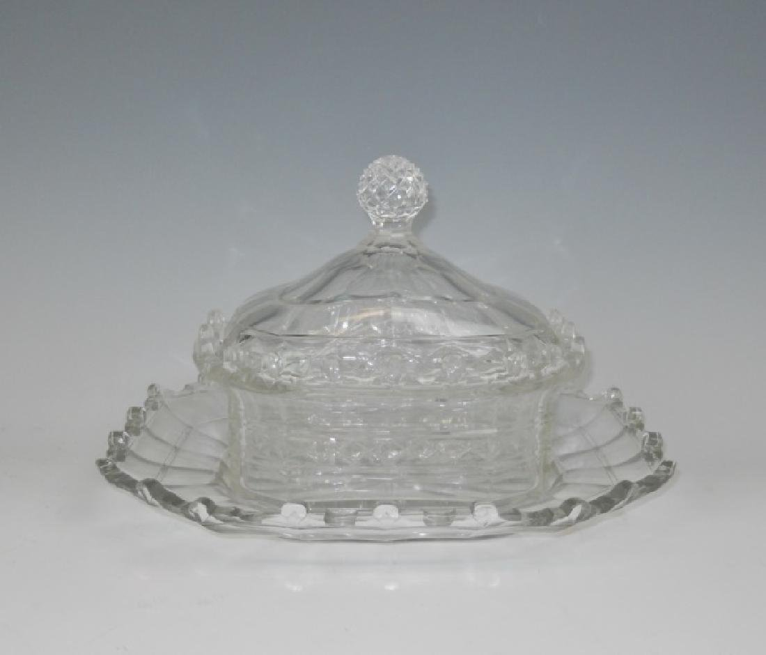 19th C. English Cut Glass Covered Dishes (2pc) - 3
