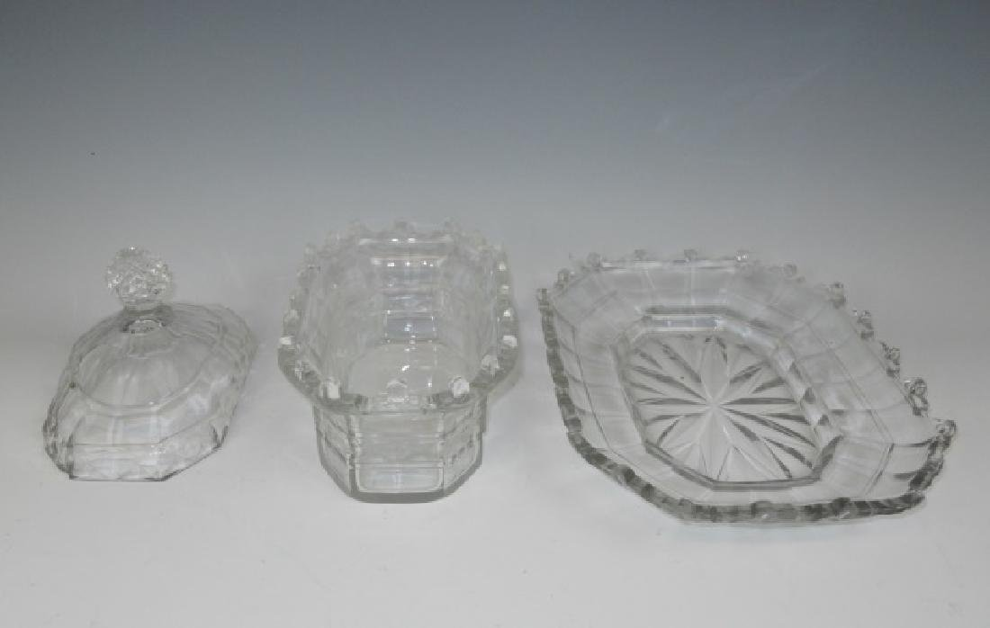 19th C. English Cut Glass Covered Dishes (2pc) - 5