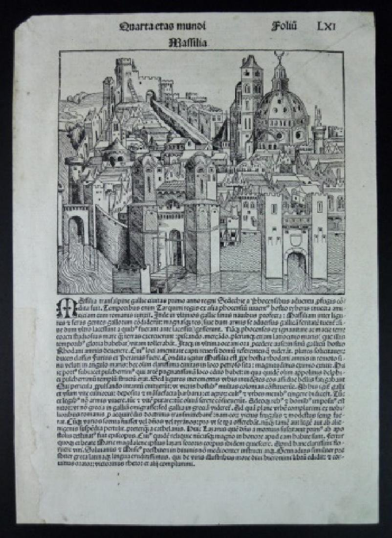 15th C. Nuremberg Chronicles Page, Folio LVI