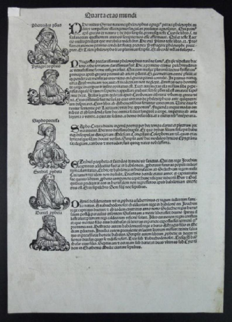 15th C. Nuremberg Chronicles Page, Folio LVI - 2