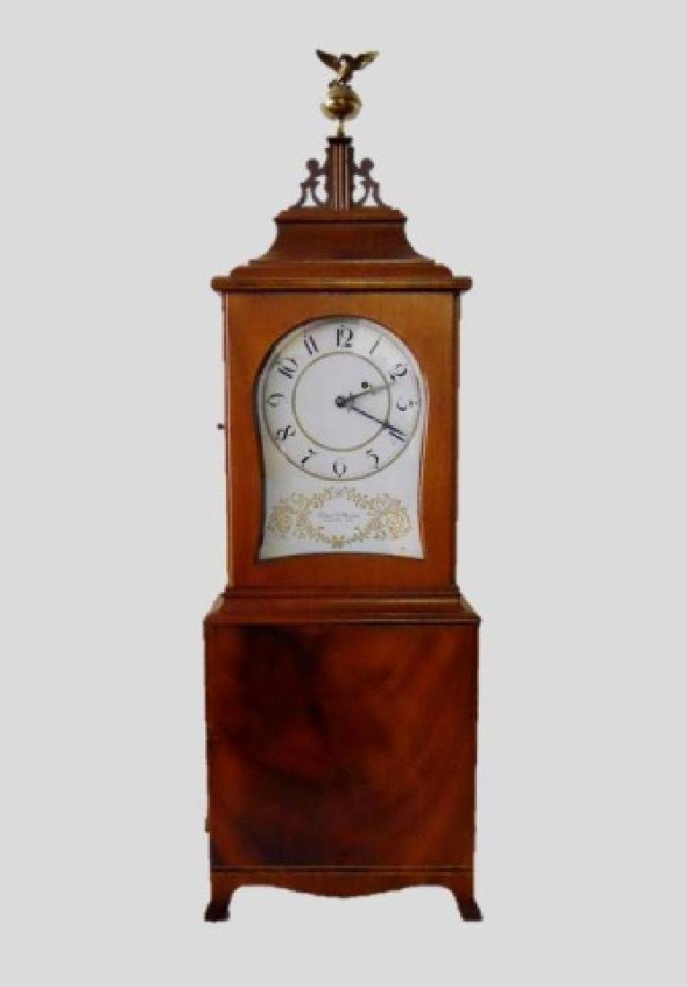 Mahogany Case, Massachusetts Clock, Elmer Stennes