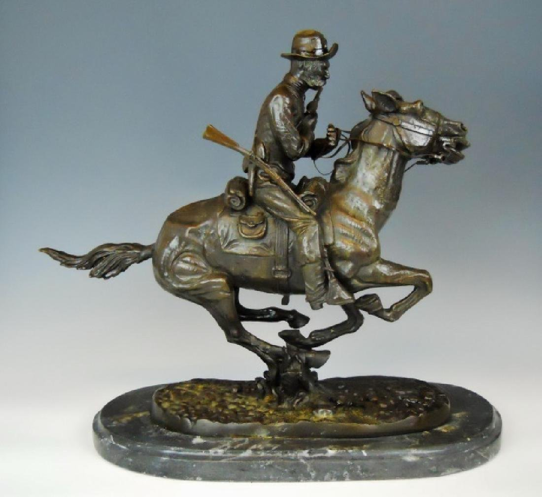 Bronze, Frederick Remington, Trooper of the Plains - 2