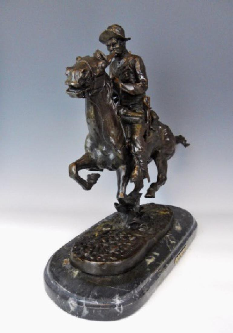 Bronze, Frederick Remington, Trooper of the Plains - 3