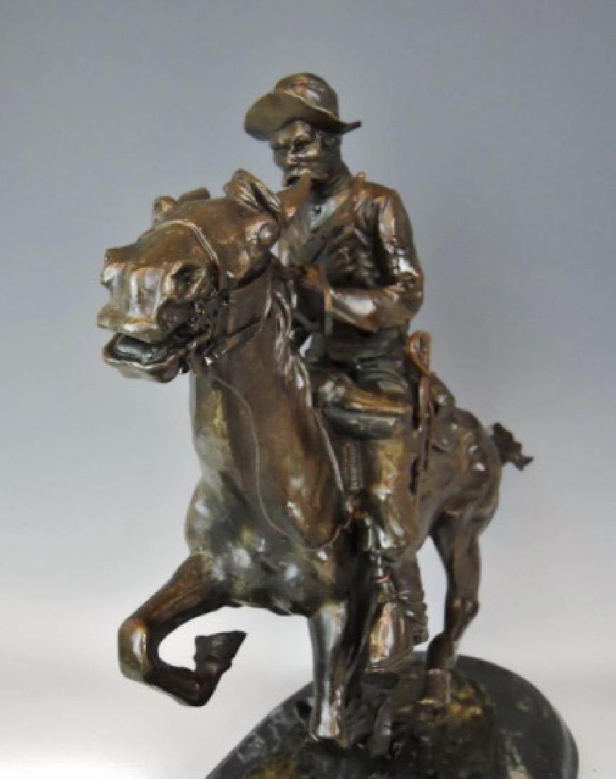 Bronze, Frederick Remington, Trooper of the Plains - 4