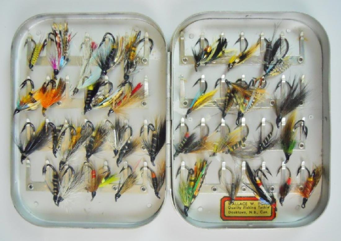 Cased Hand-Tied Fly's, Wallace W. Doak, (43pc)