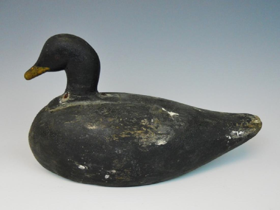 Primitive Hand Carved Duck Decoy, Coastal Maine