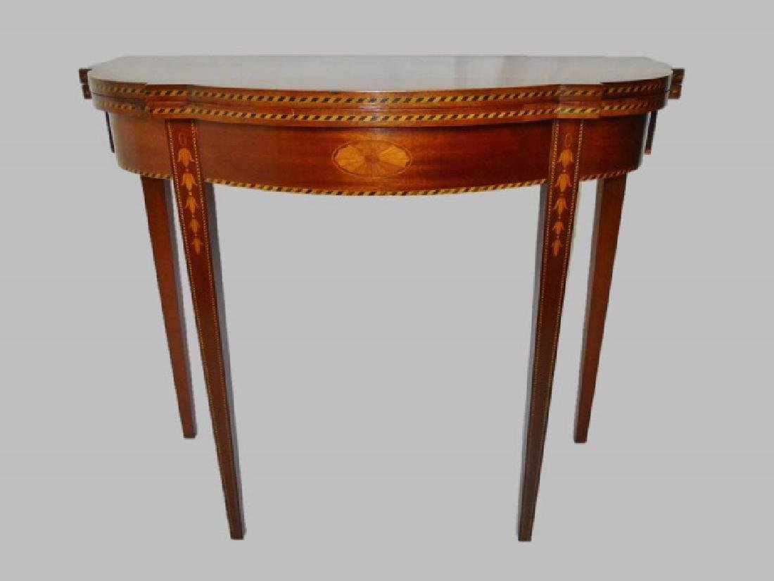 Centennial Mahogany Demi-lune Games Table