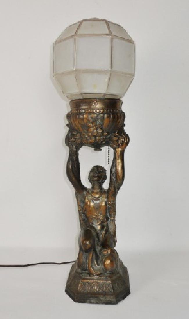 C. 1930 Pair of Art Deco Lamps - 2
