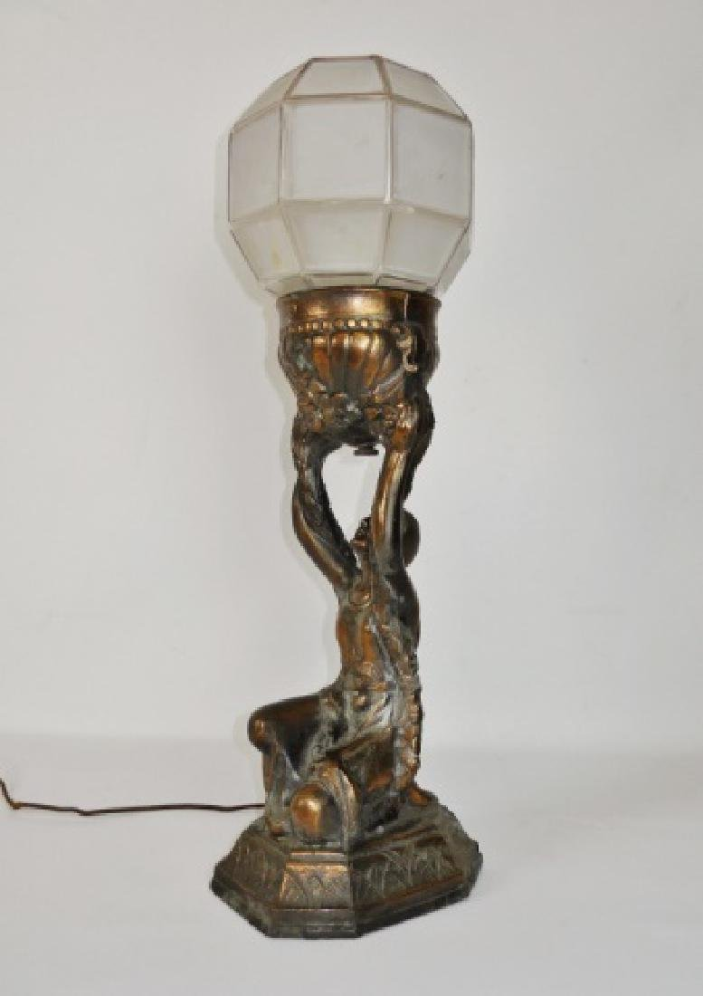 C. 1930 Pair of Art Deco Lamps - 3