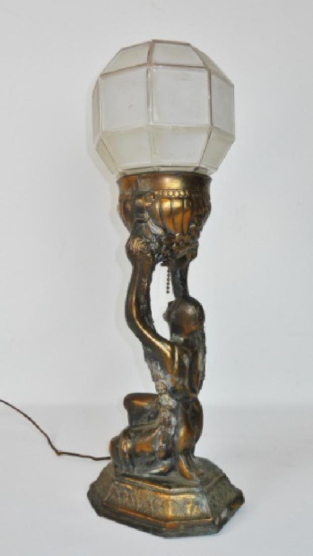 C. 1930 Pair of Art Deco Lamps - 5