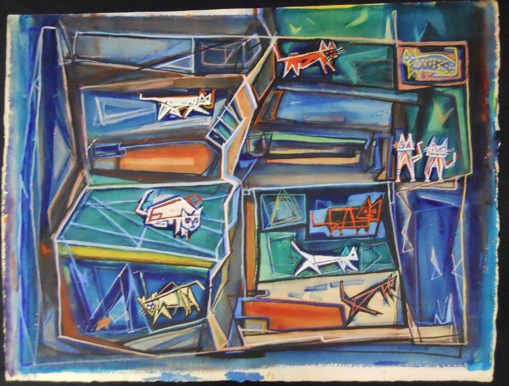 Watercolor Gouache, Hale Woodruff, (1900-1980)