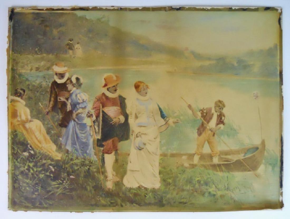 Watercolor Gouache, Adrian Moreau, 1881 Date