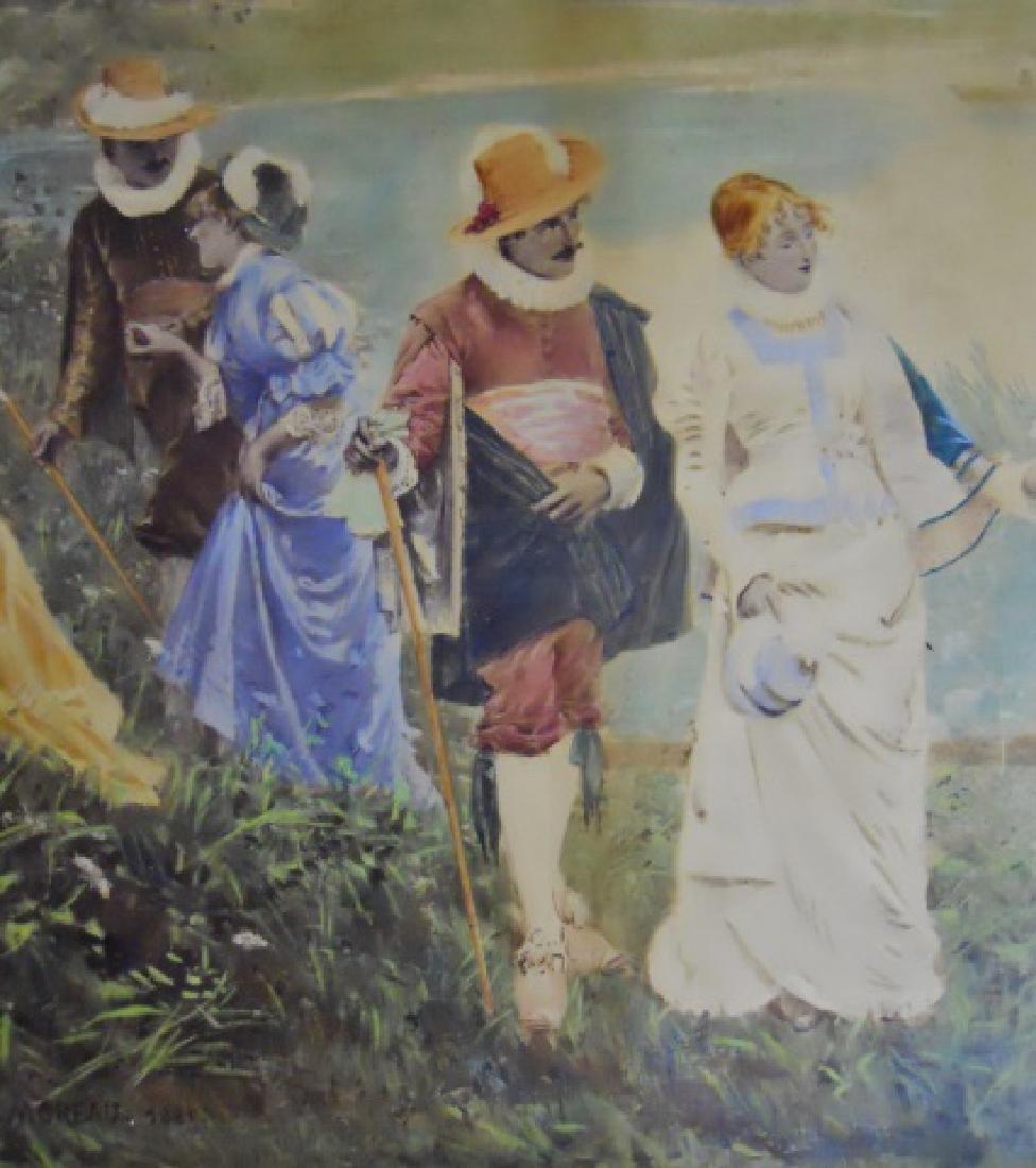 Watercolor Gouache, Adrian Moreau, 1881 Date - 2