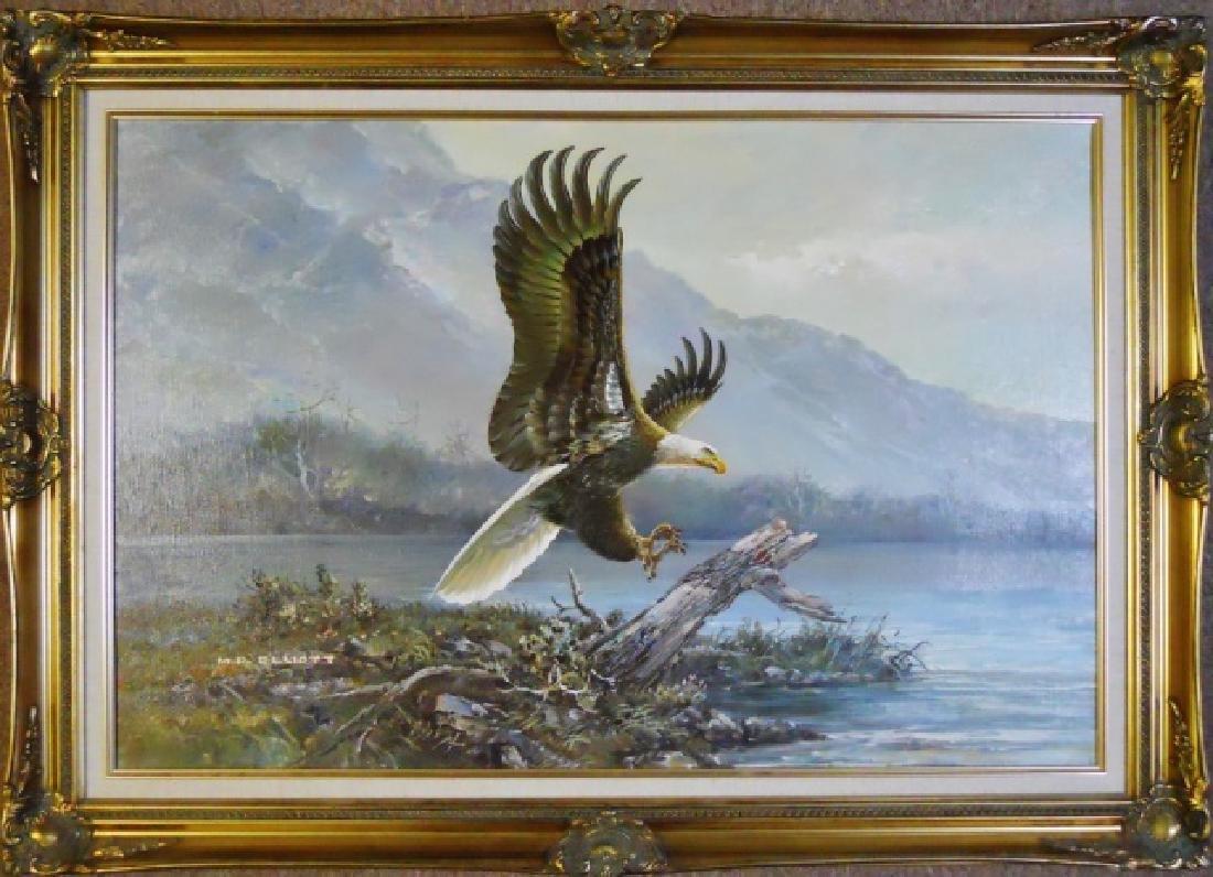 Painting Oil on Canvas, M.P Elliott
