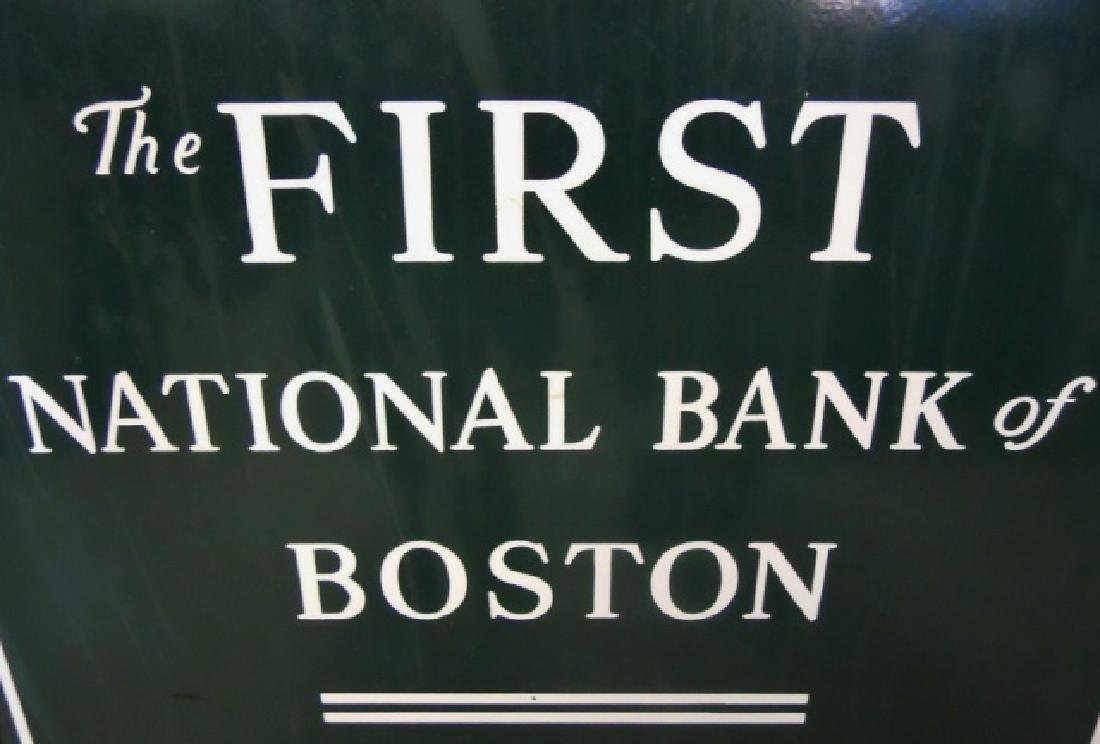 Porcelain Signs First National Bank Boston, (2pc) - 3
