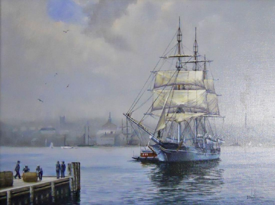 Painting O/C Whale Ship, B. E. Neill, (1914-2001)